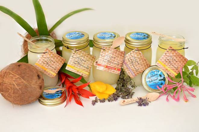 secret of the islands sea salt scrubs